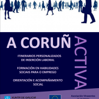 cartel CORUÑA ACTIVA