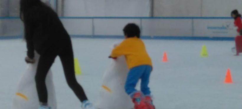 Diversión na pista de xeo